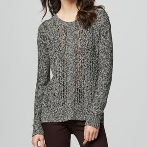 Prince & Fox Black and White Cable Knit Sweater